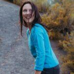 Pull Alpa Col V Laine Alpaga bleu electrique
